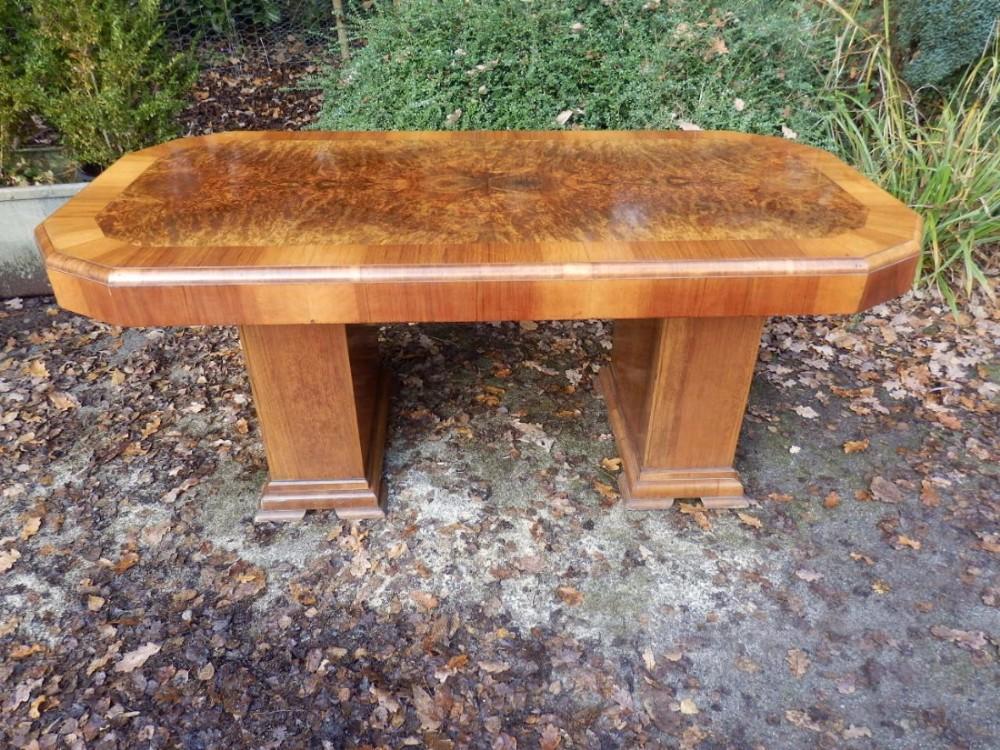 art deco dining table burr walnut veneer art deco dining table high