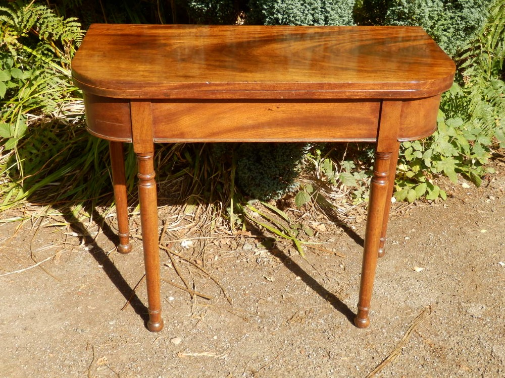 card table fold over georgian mahogany beautiful condition