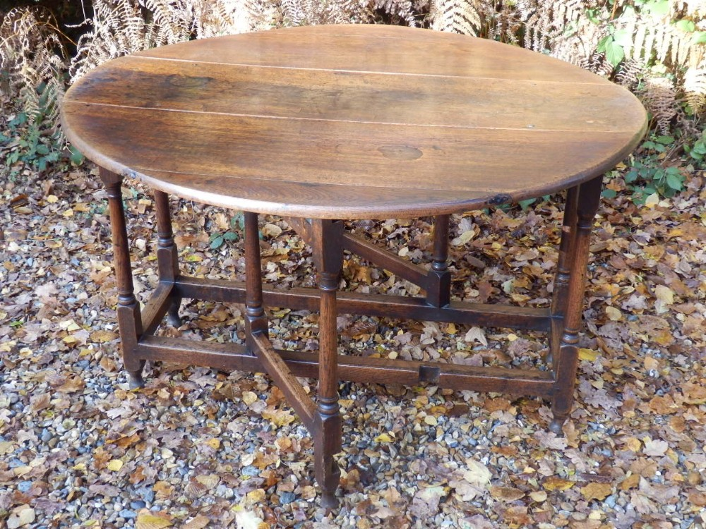 solid oak dining table drop leaf gate leg