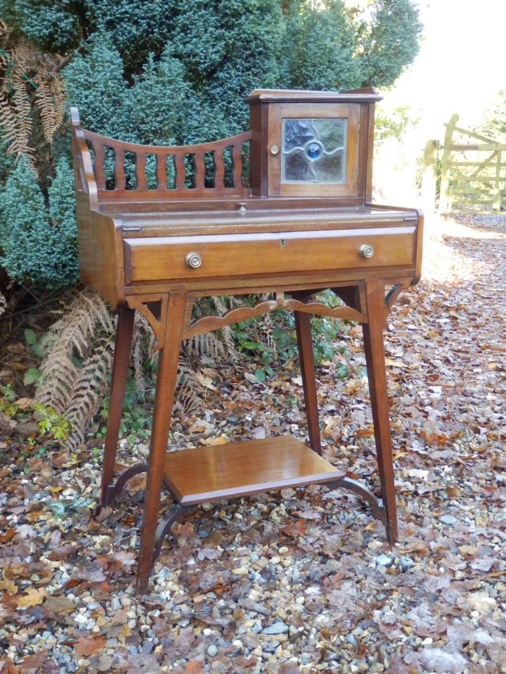 arts and crafts desk mahogany bonheur de jour
