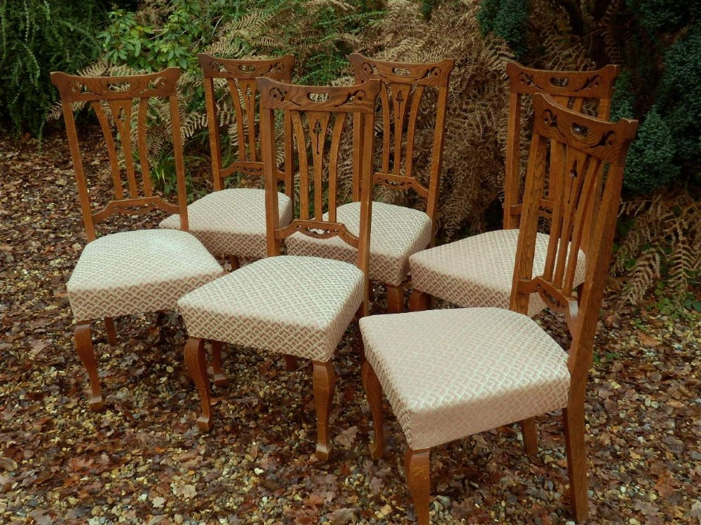 dining chairs set of 6 arts and crafts
