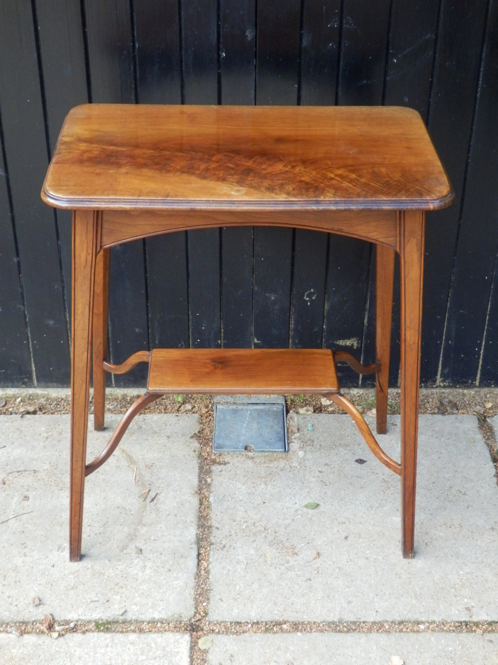 side table burr walnut edwardian very solid and original