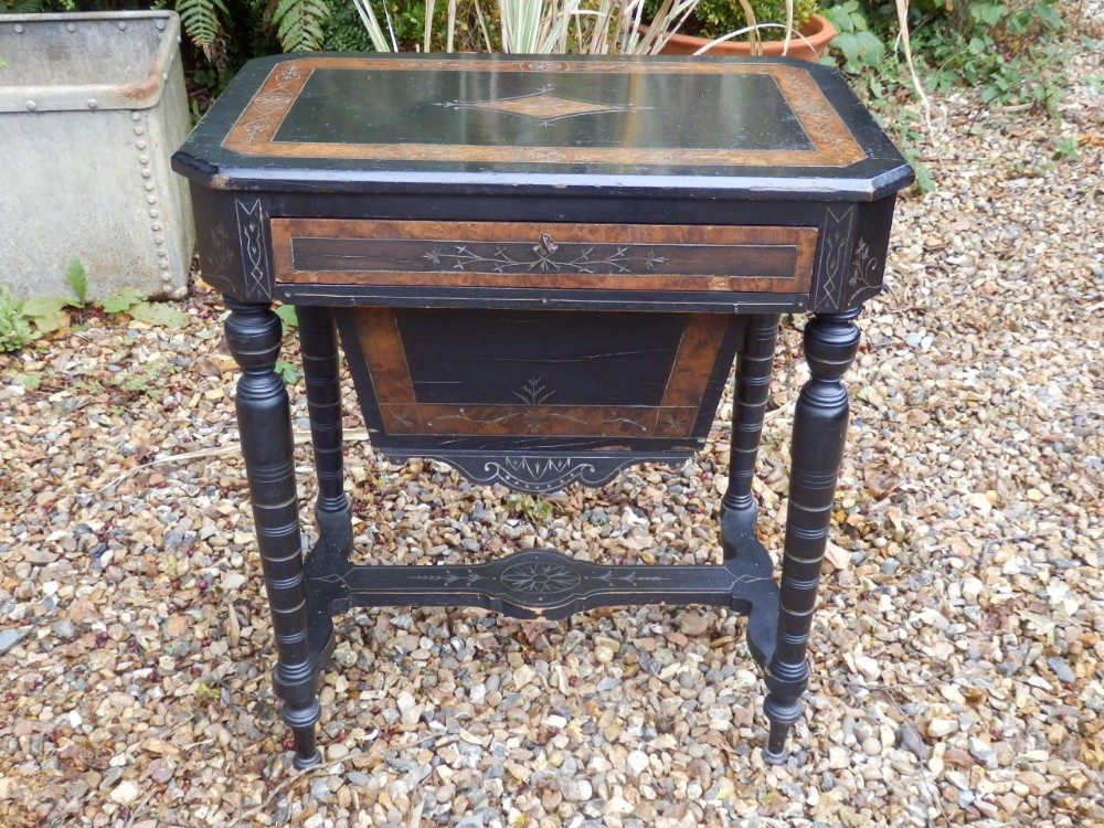 sewing work table victorian aesthetic movement
