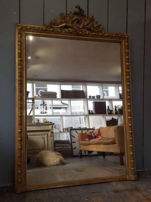 overmantle antique french mirror c1870
