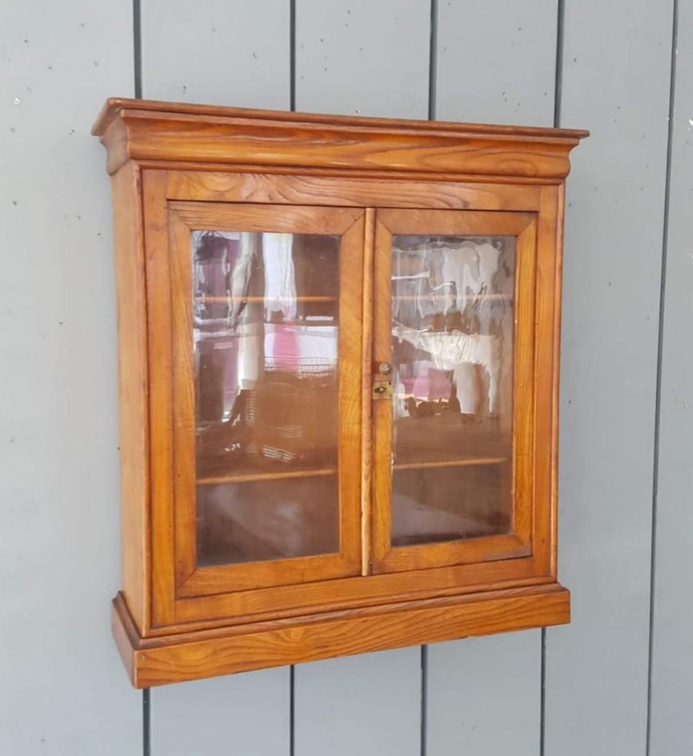 antique oak hanging cabinet c1850