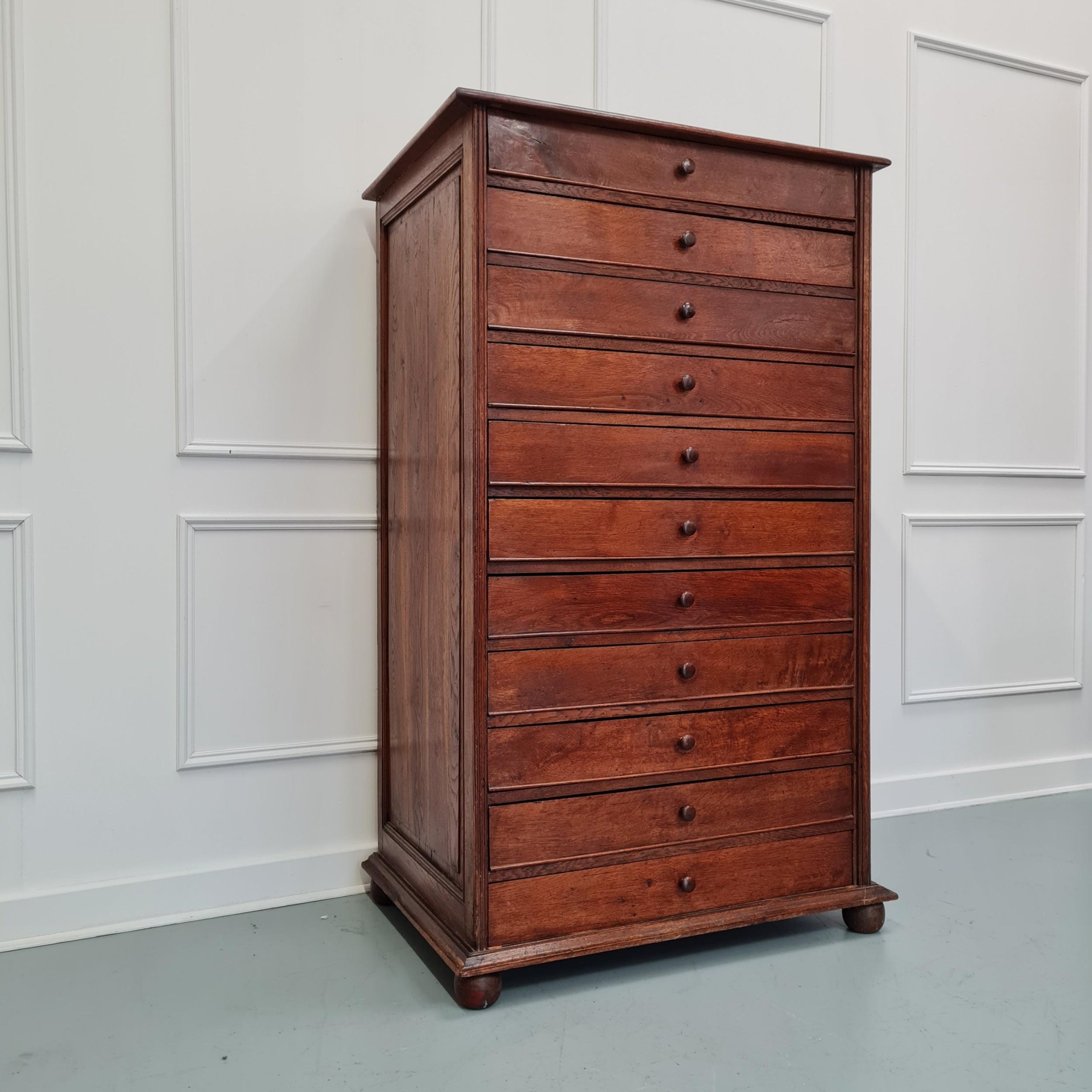 large antique collectors drawers shop cabinet c1880