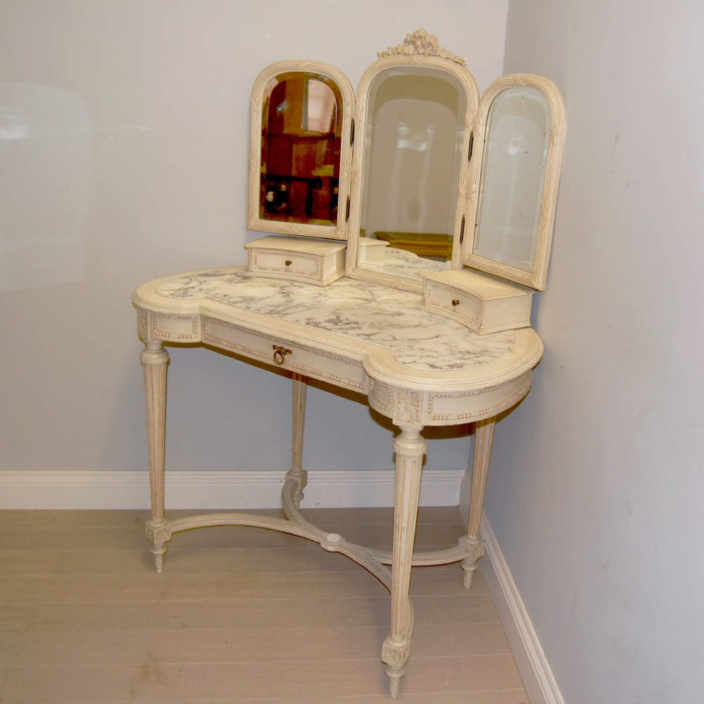 Antique french painted dressing table