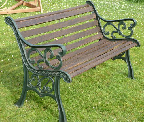 Cast Of Benched : Cast iron garden bench c sellingantiques