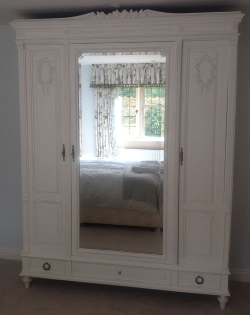 french armoire wardrobe 3 door - photo angle #2