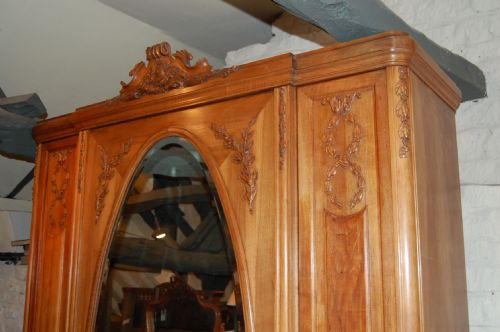 french armoire wardrobe 3 door - photo angle #3