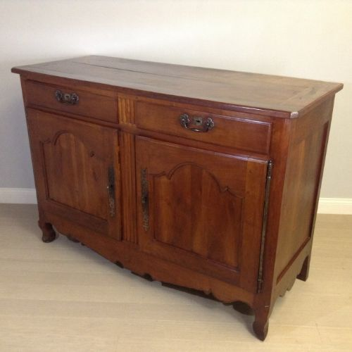 Solid cherry wood buffet sideboard circa