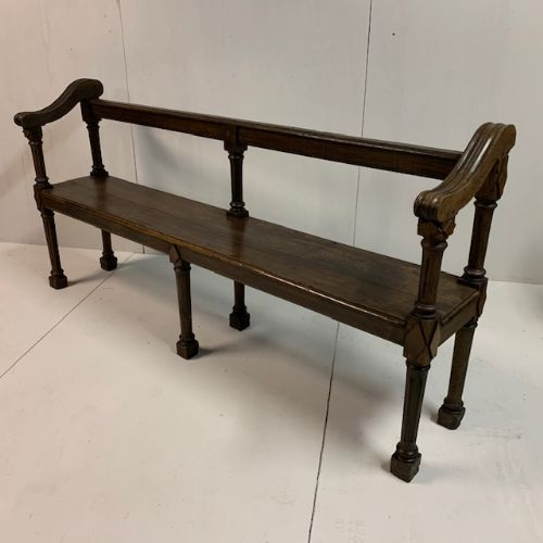 pair of regency c1820 oak reeded benches