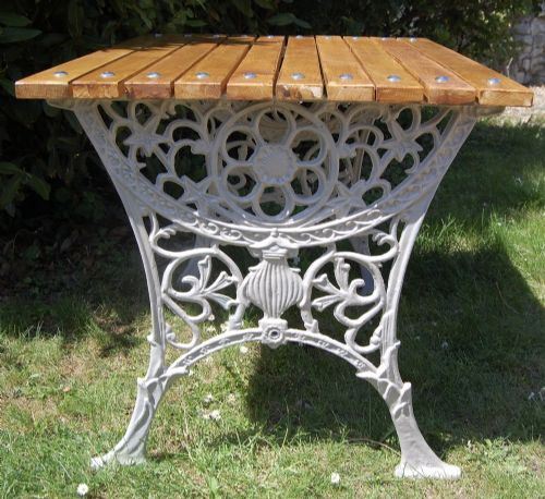 ornate cast iron garden table