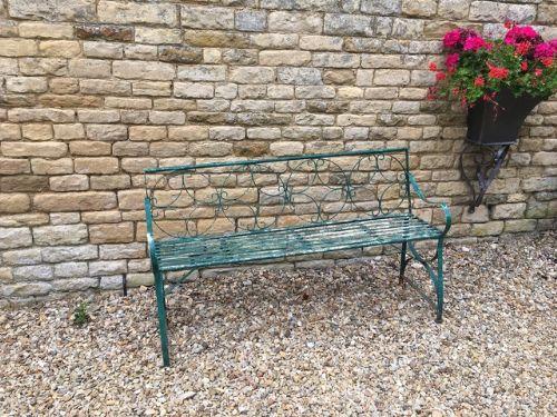 vintage garden green bench
