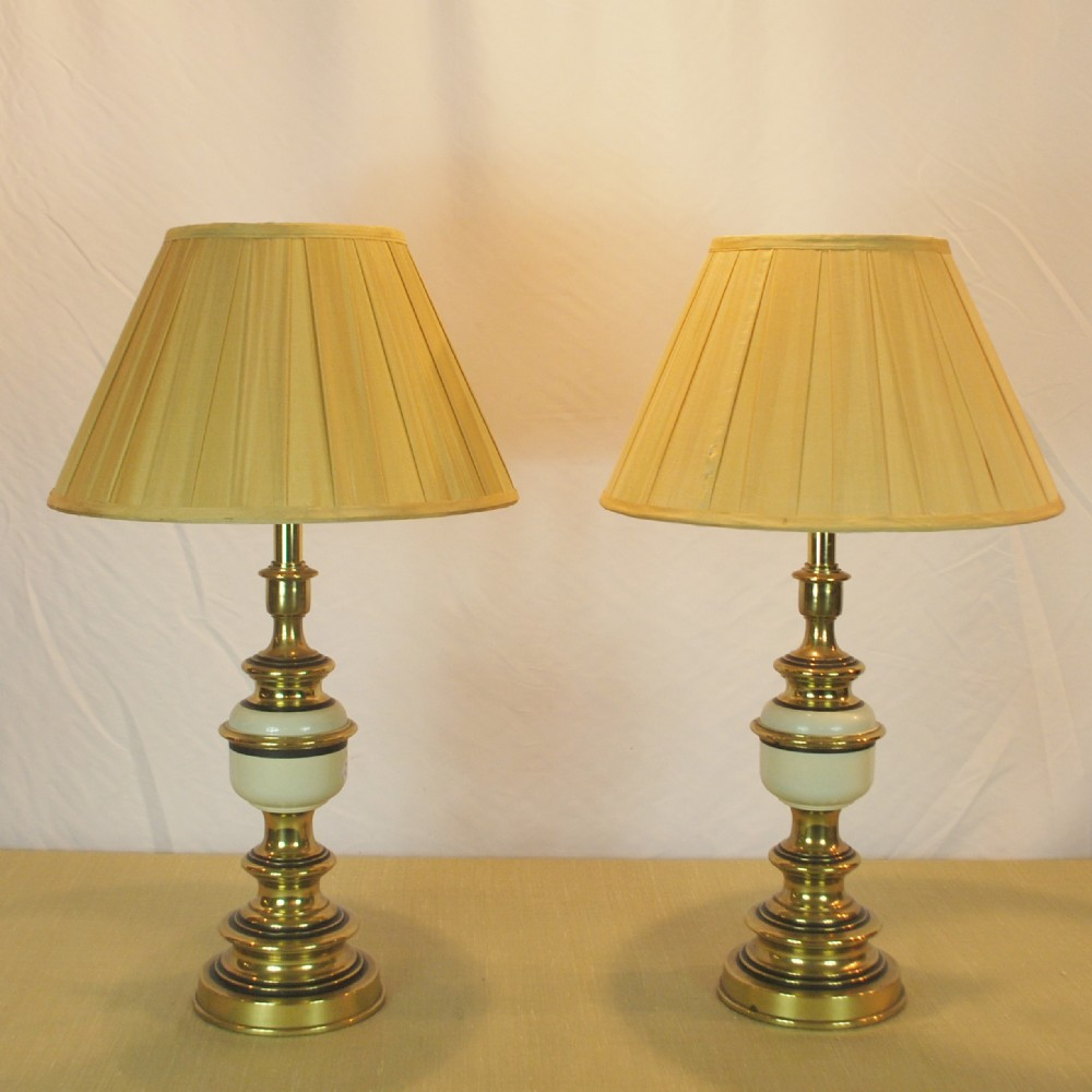 Pair of 1930s stiffel lamps