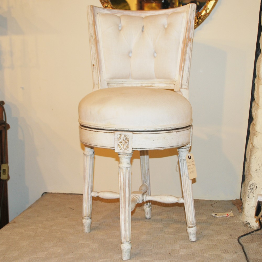 Unusual Decorative 'vintage' Swivel Dressing Table Chair