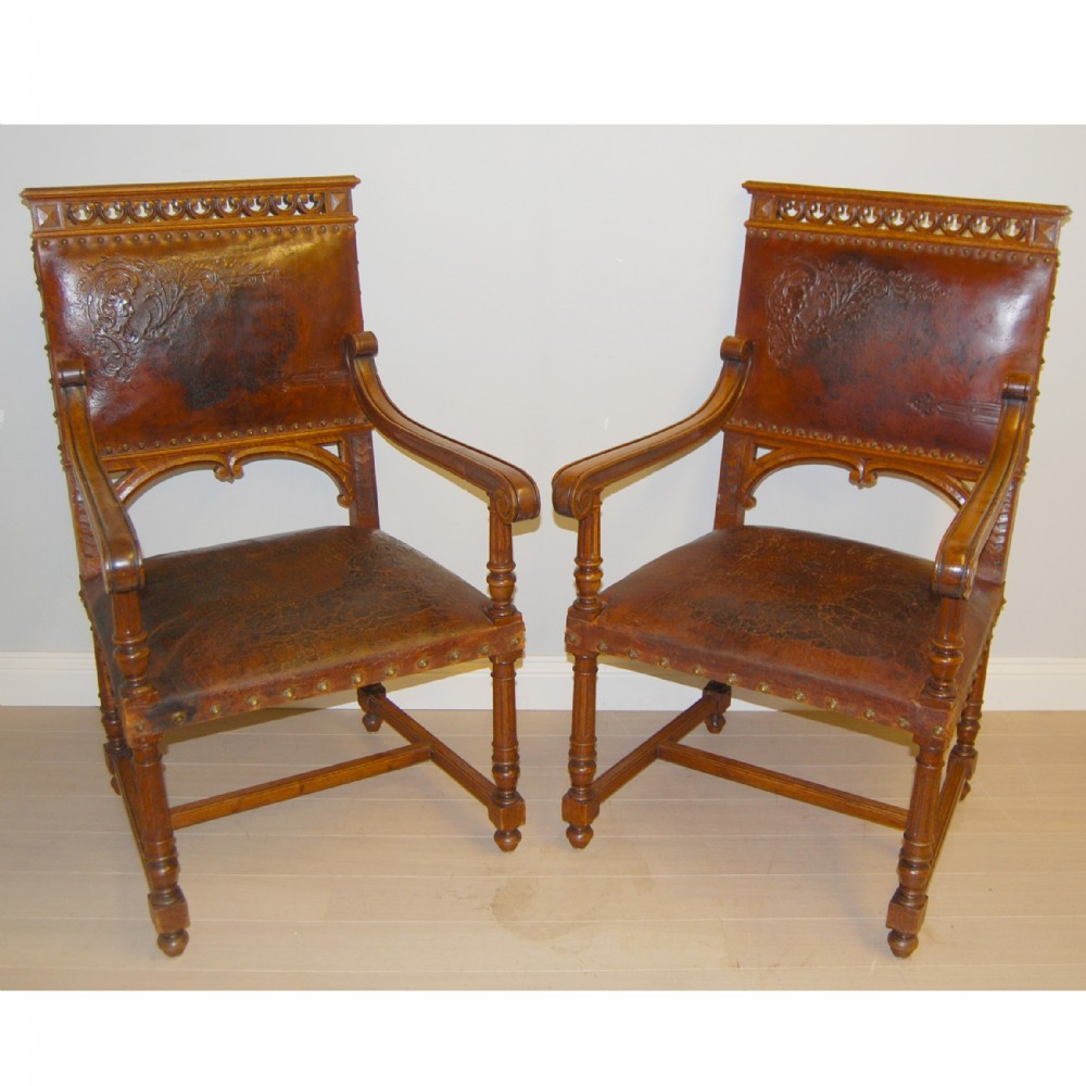 pair of antique carver chairs a11603 - Pair Of Antique