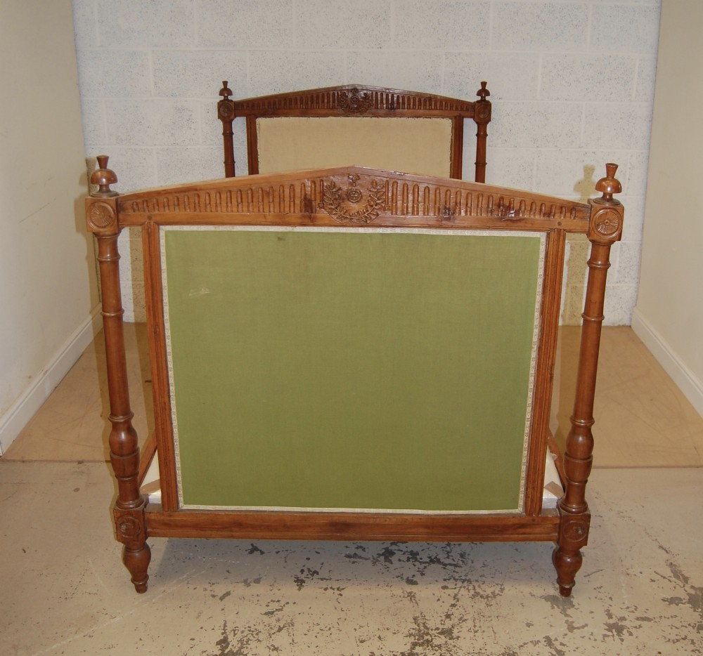 early 20th century french walnut bed