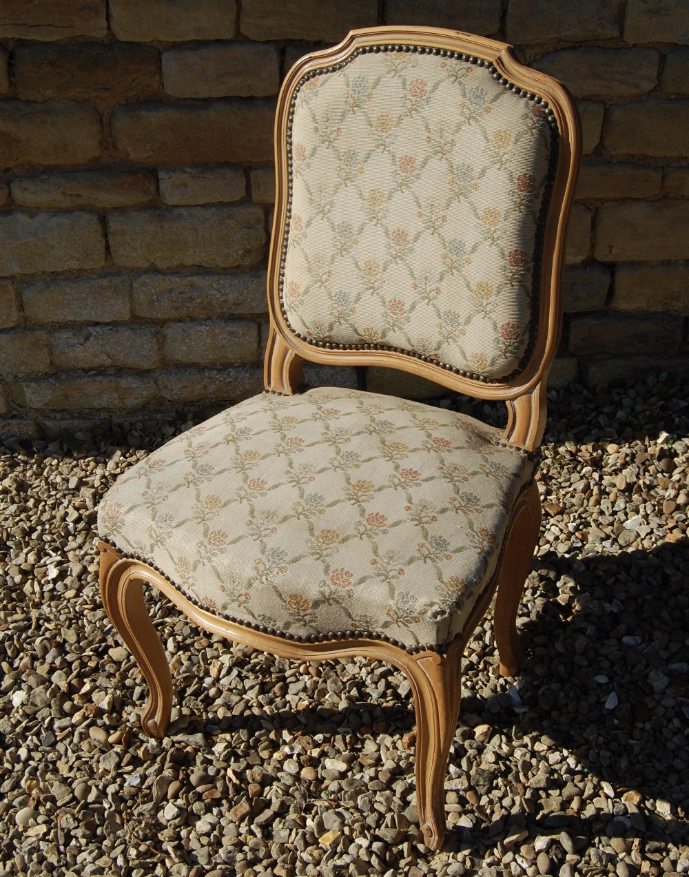 french single tapestry chair