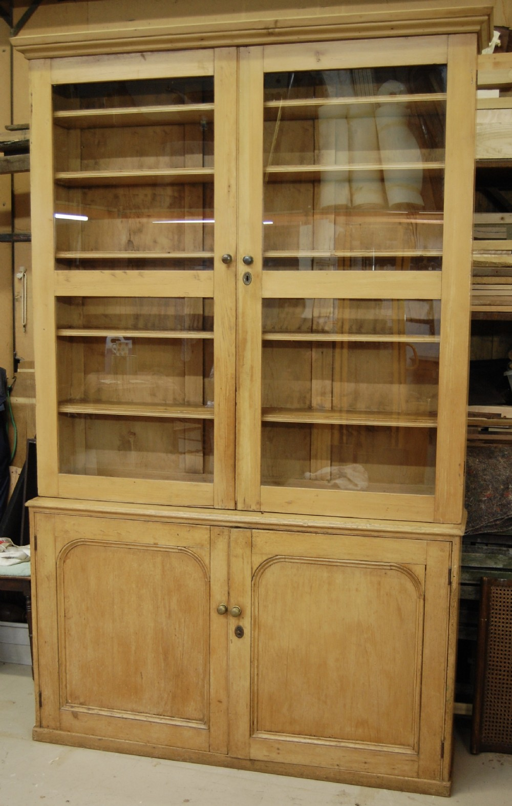 19th century pine housekeepers cupboard