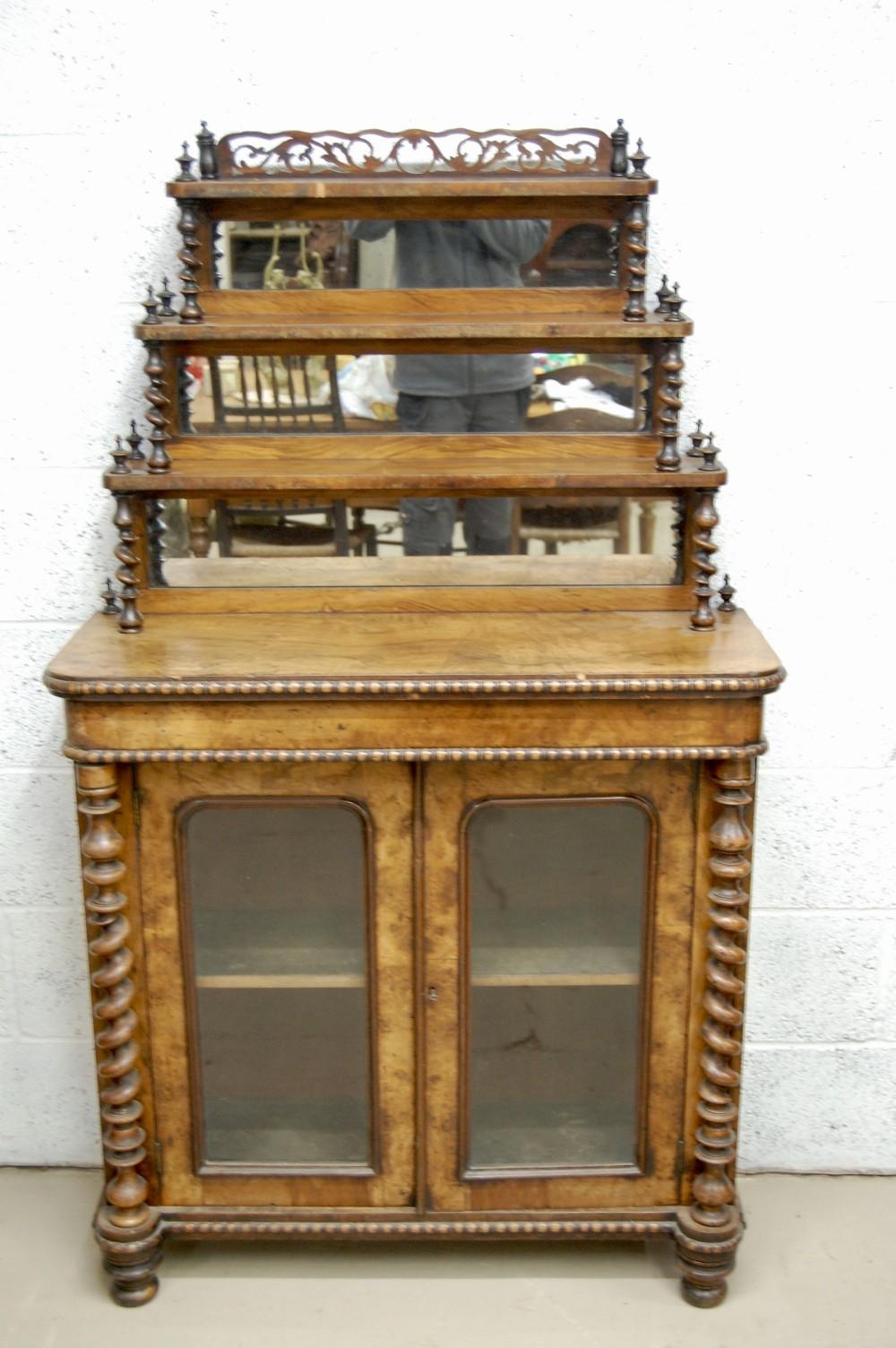 late 19th c walnut chiffonier