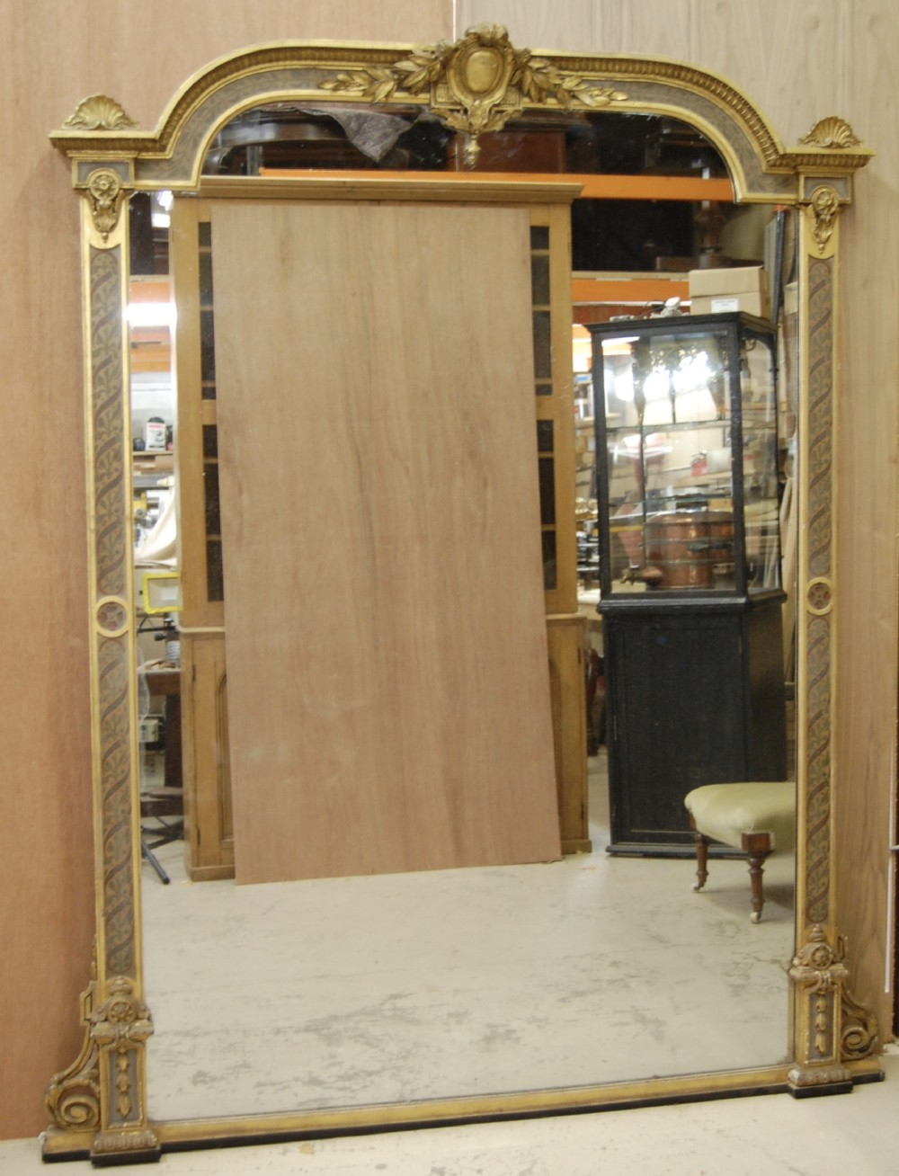 large english 19th century paint and gilt mirror