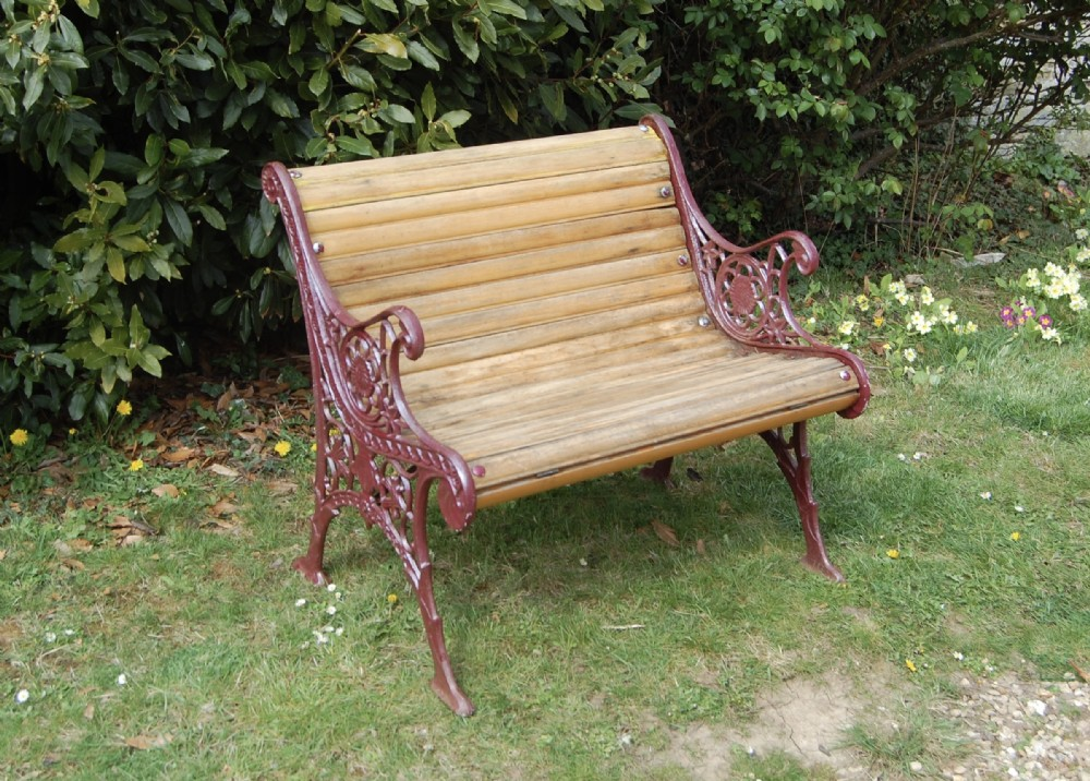 unusual 19th century garden bench