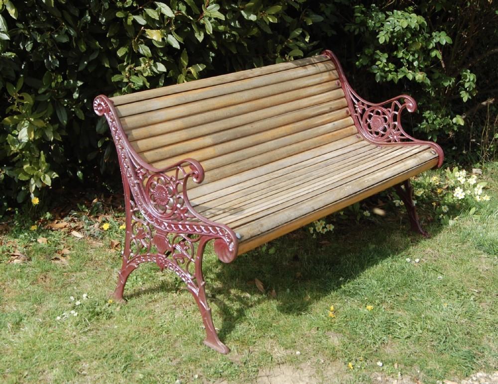 unusual 19th century 23 seater garden bench