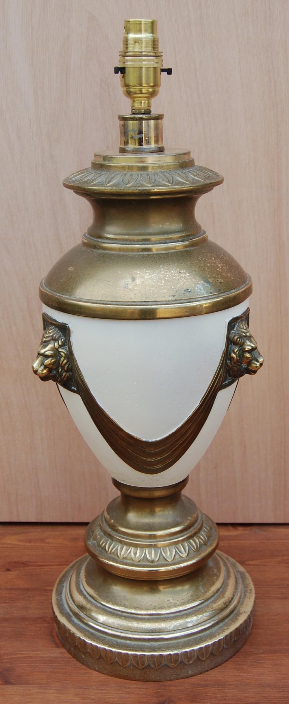 original single brass urn style lamp