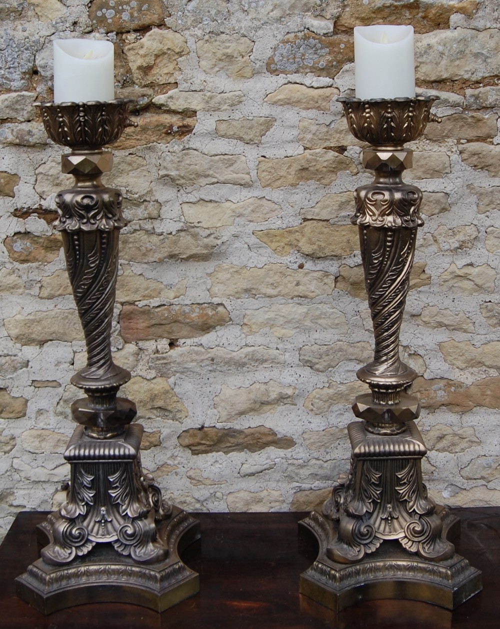 early 20th century italian cast bronze effect lamps
