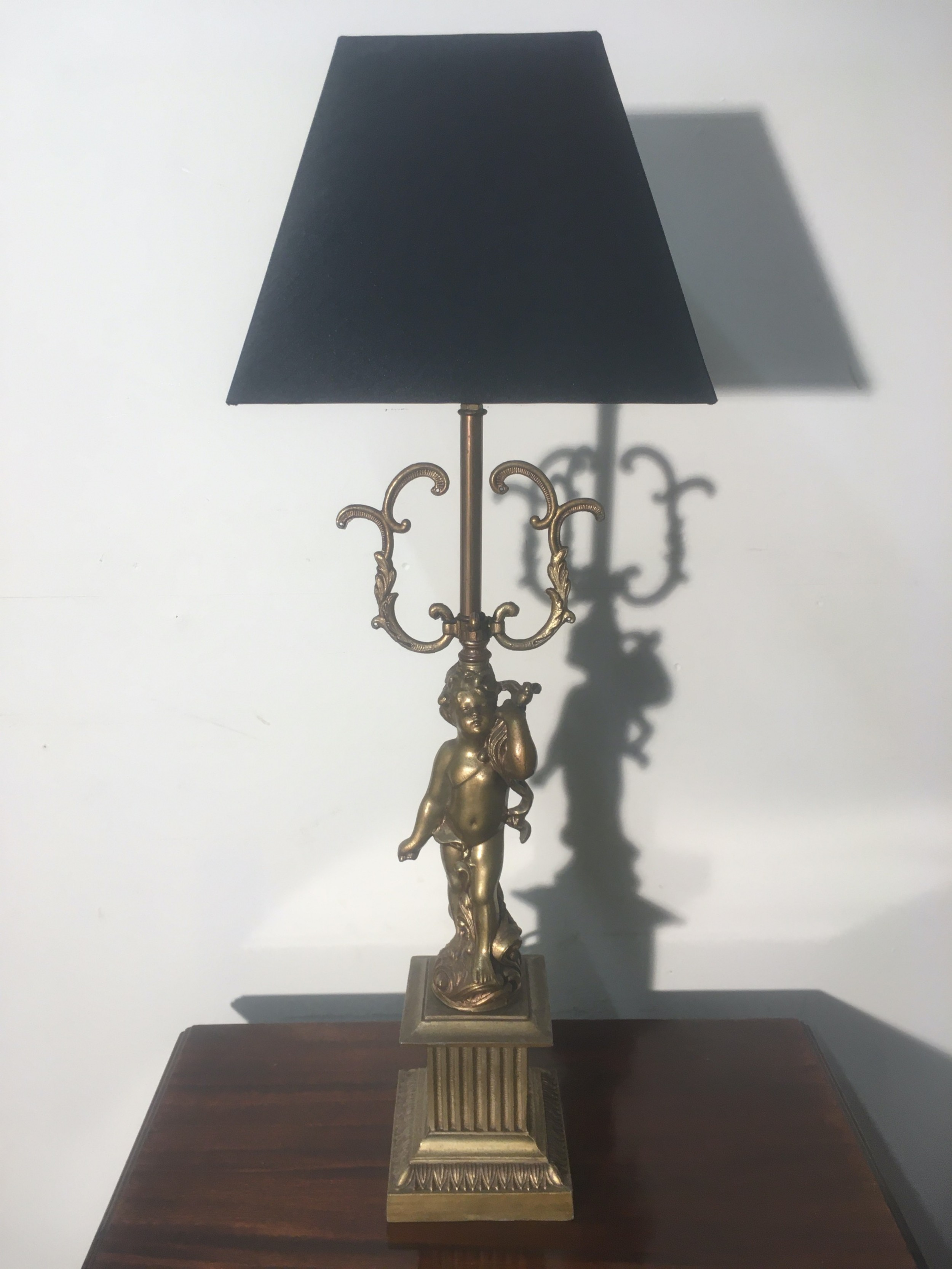 original single brass cherub lamp