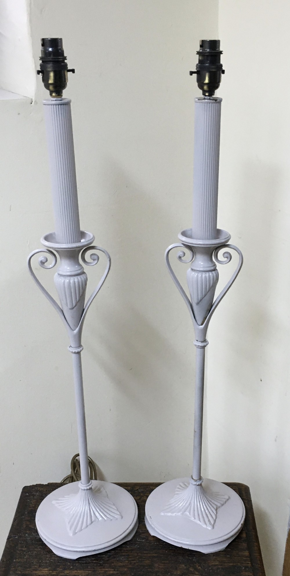 pair of stylish 1920's lamps
