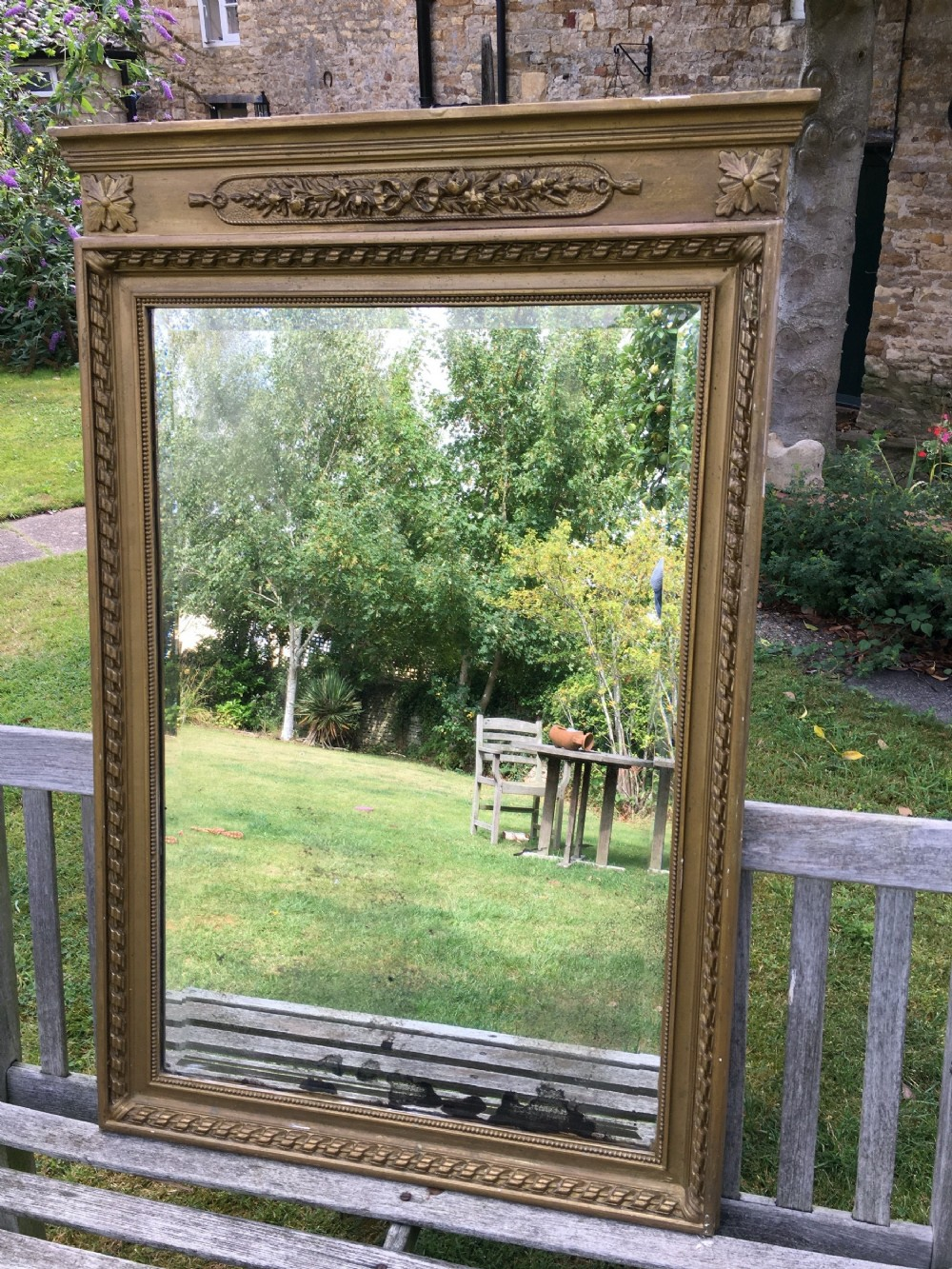 19th century gilt mirror