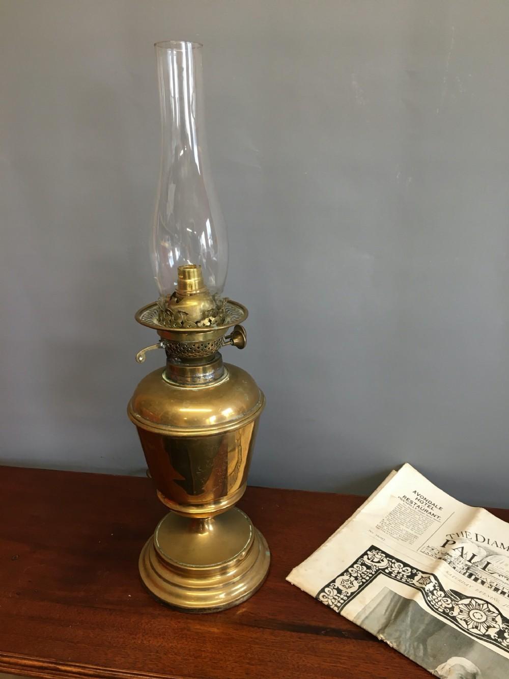 late 19th c oil lamp