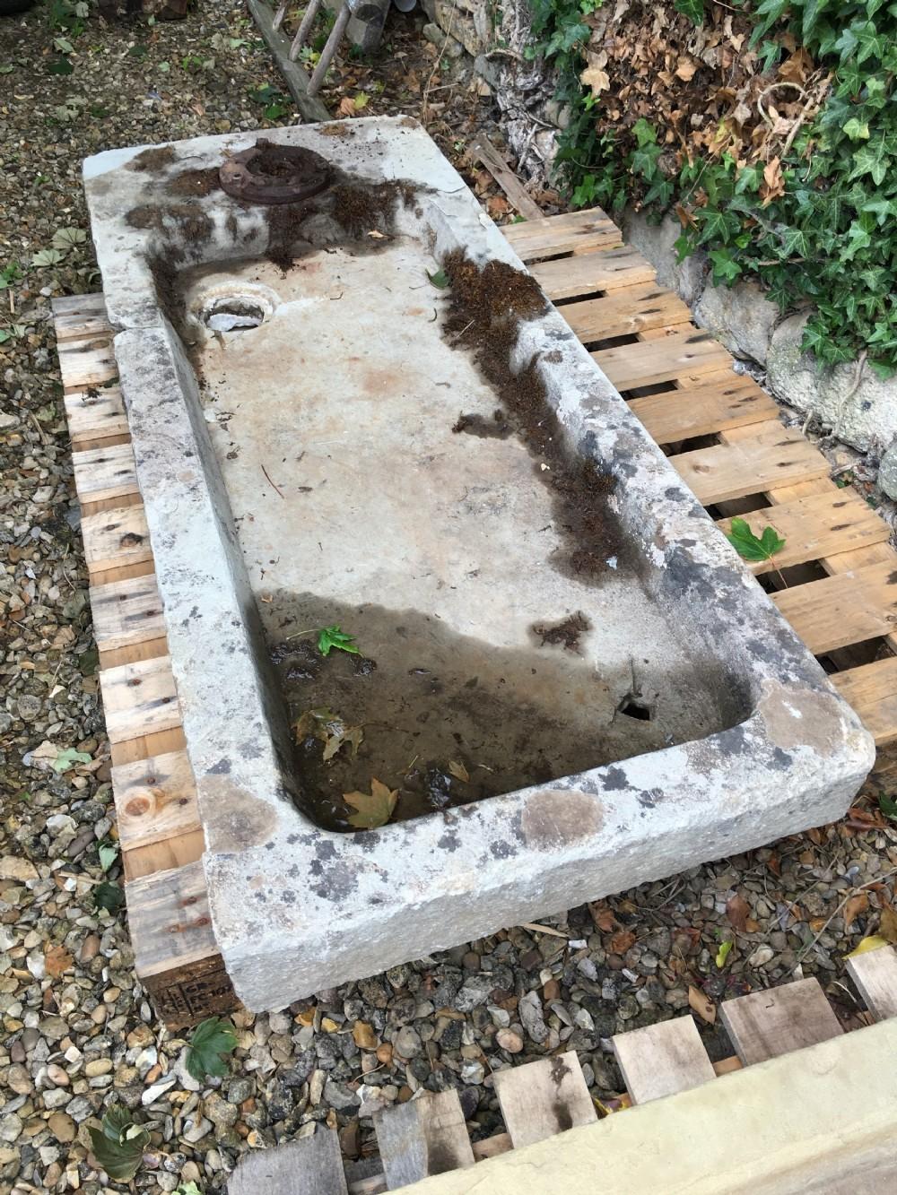 19th century stone farmyard sink