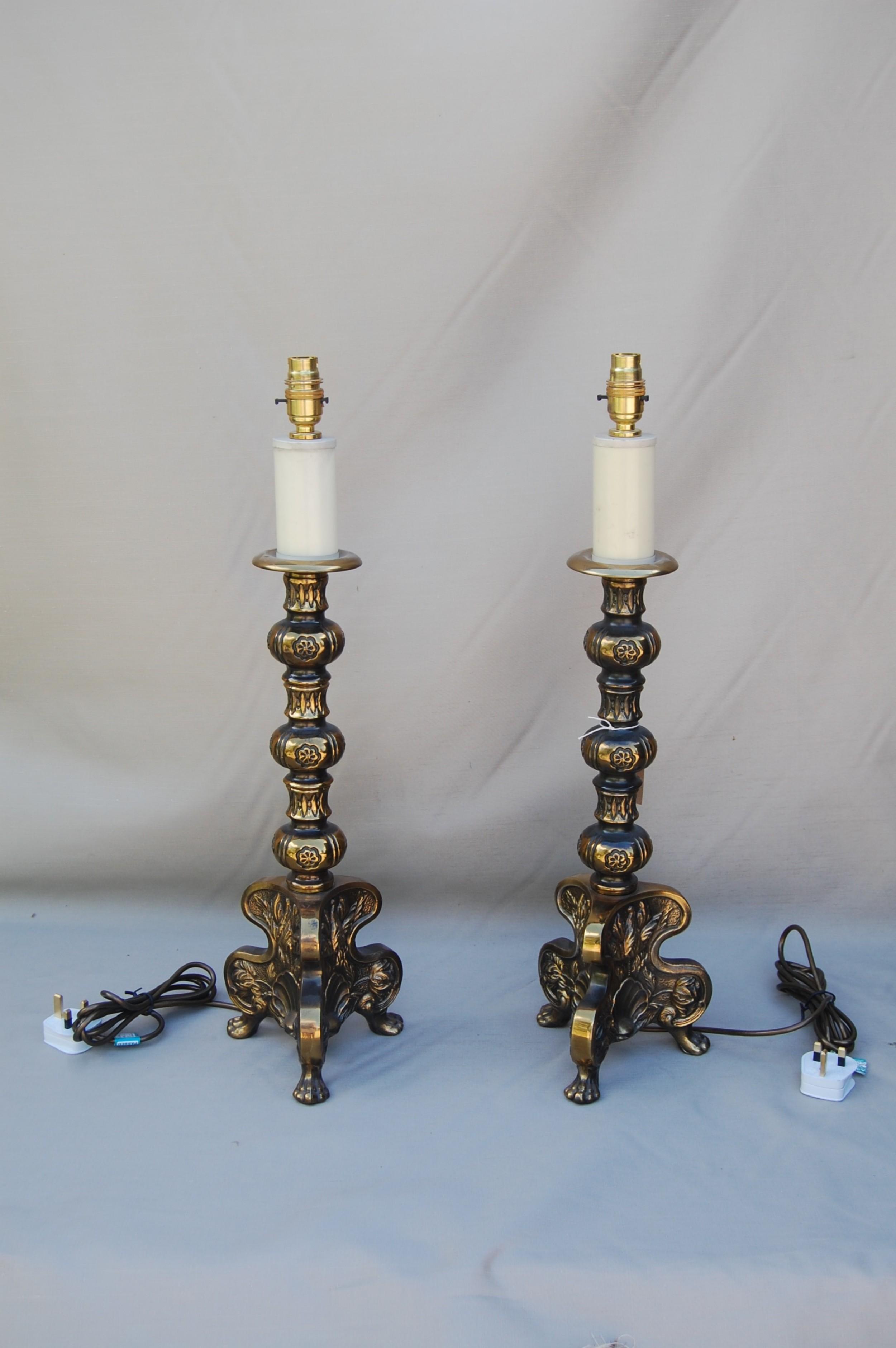 italian brass lamps