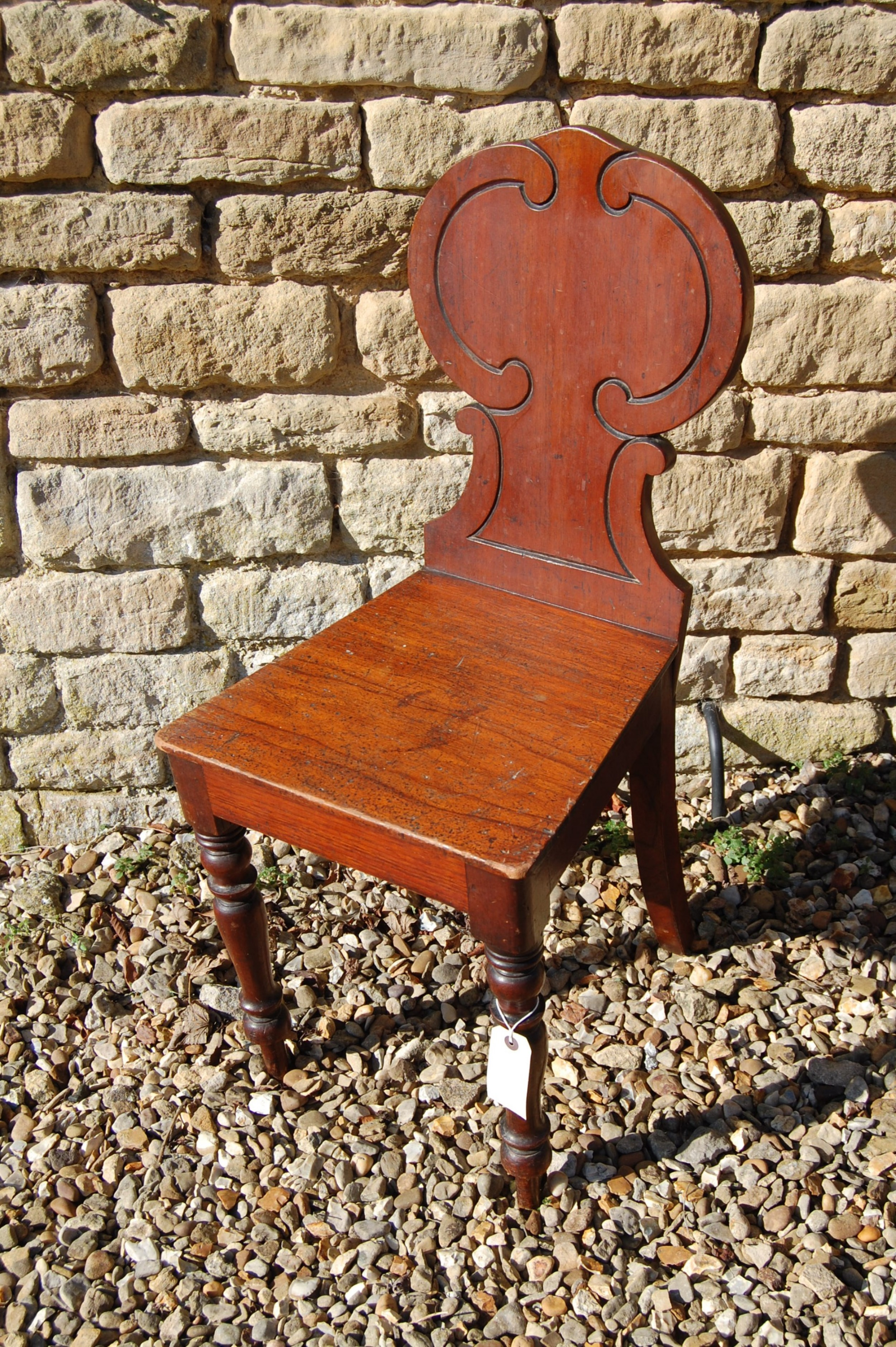 19th century mahogany hall hall chair