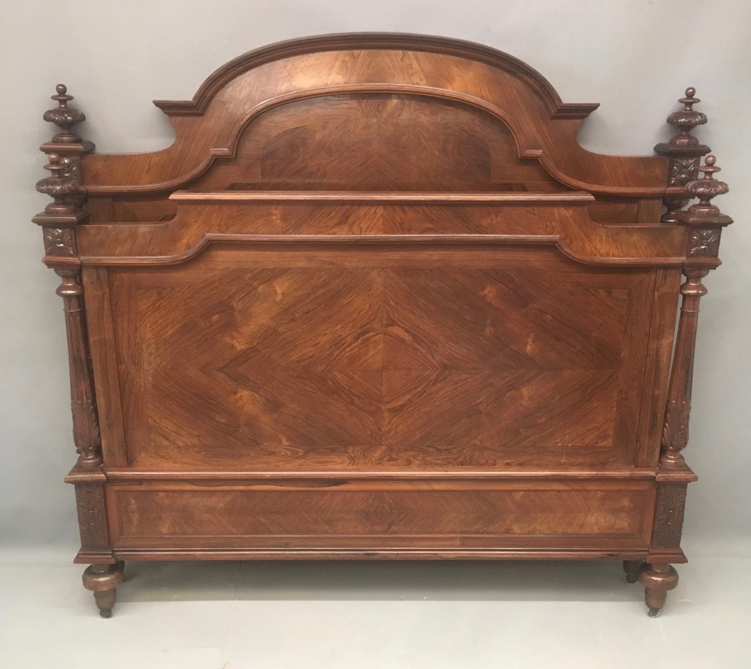 late 19th century french rosewood large double bed