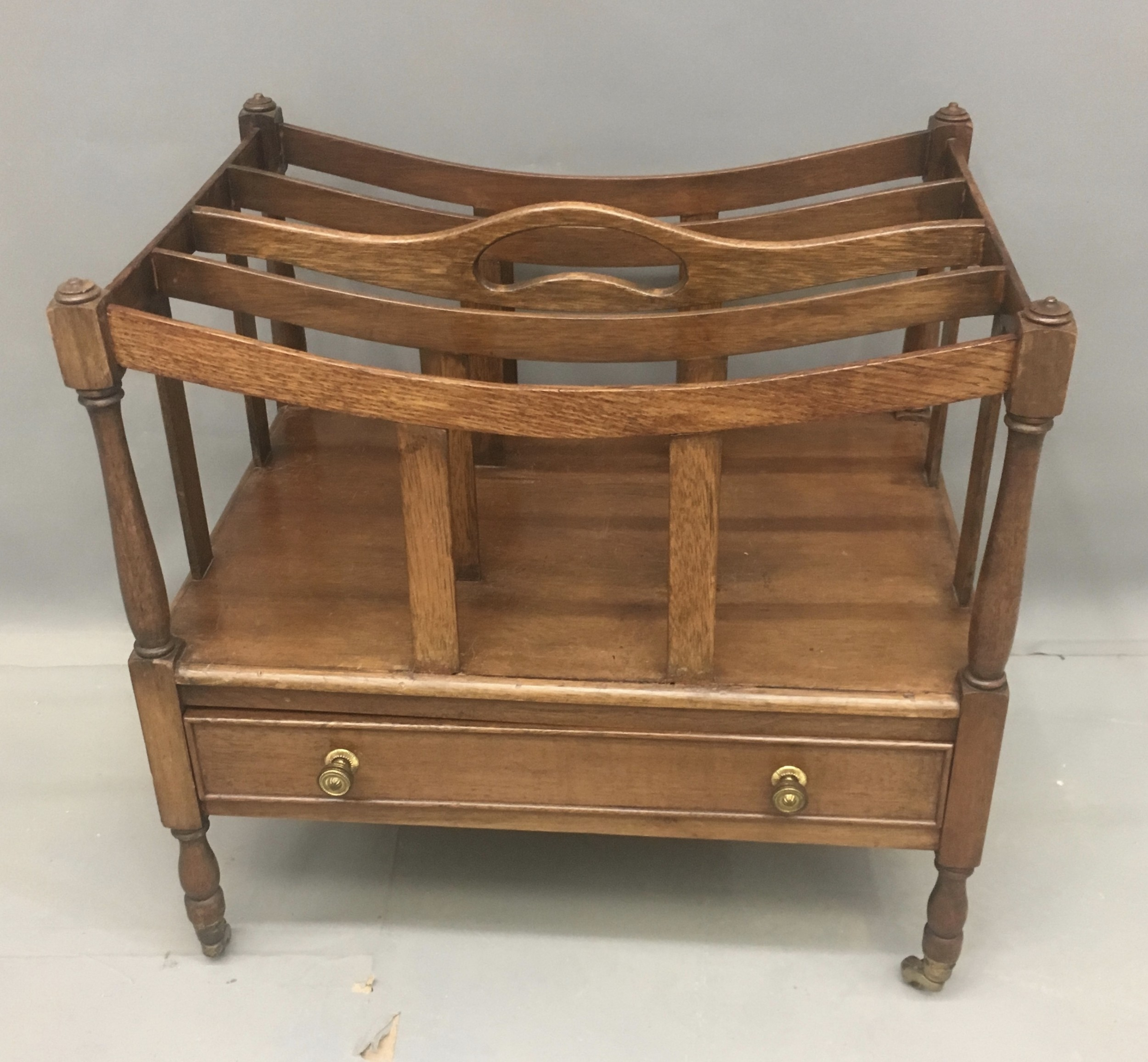 edwardian canterbury magazine music rack in light oak