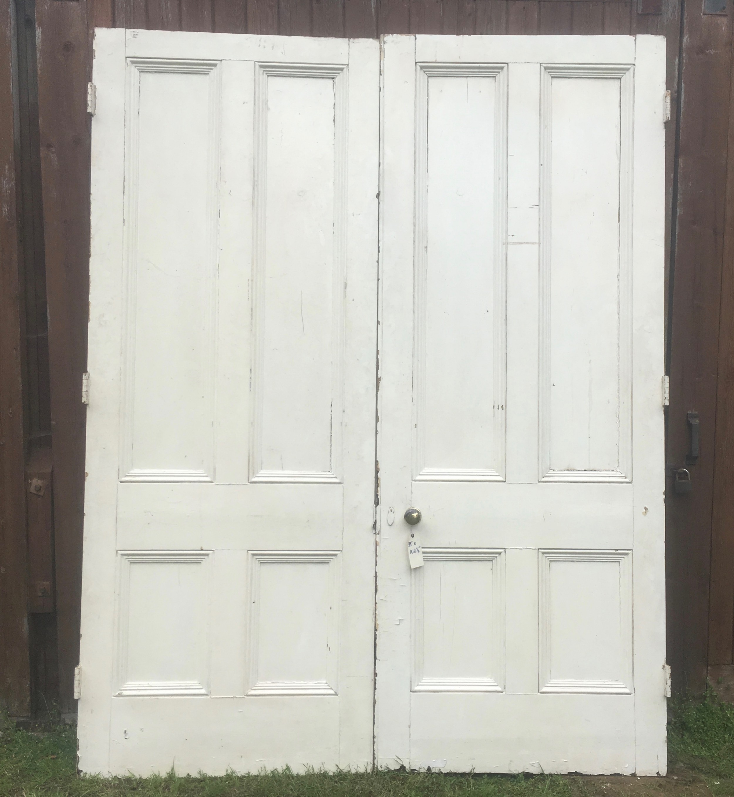 pair victorian painted doors