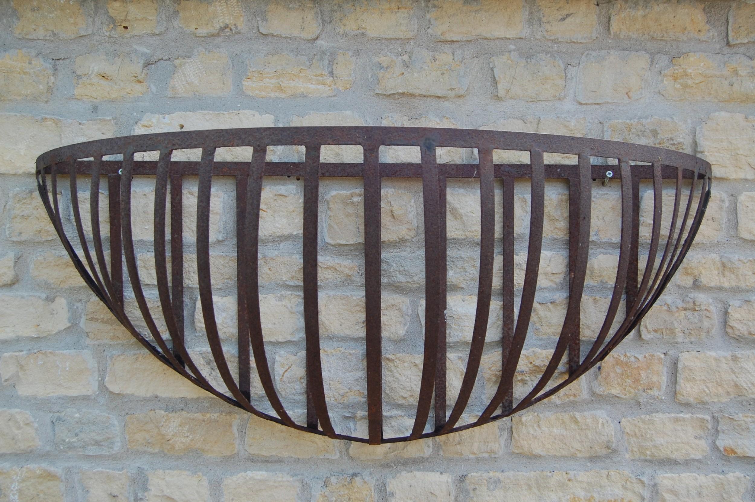 late 19th century large cast iron hay rack