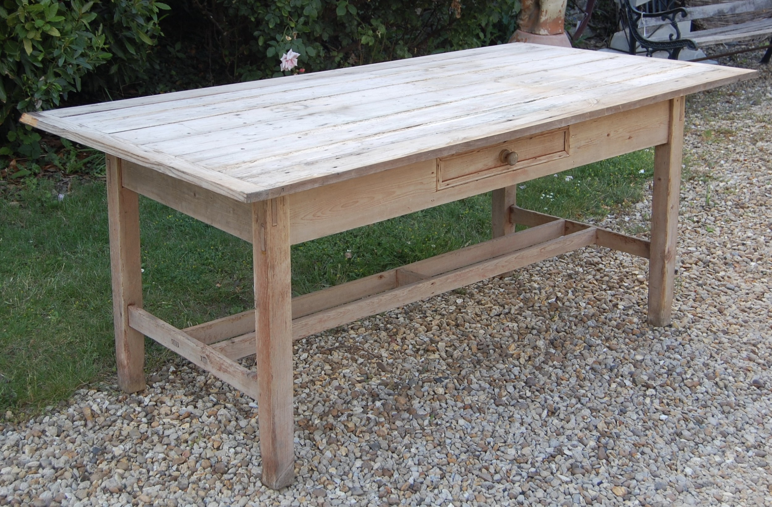 late 19th century pine kitchen table