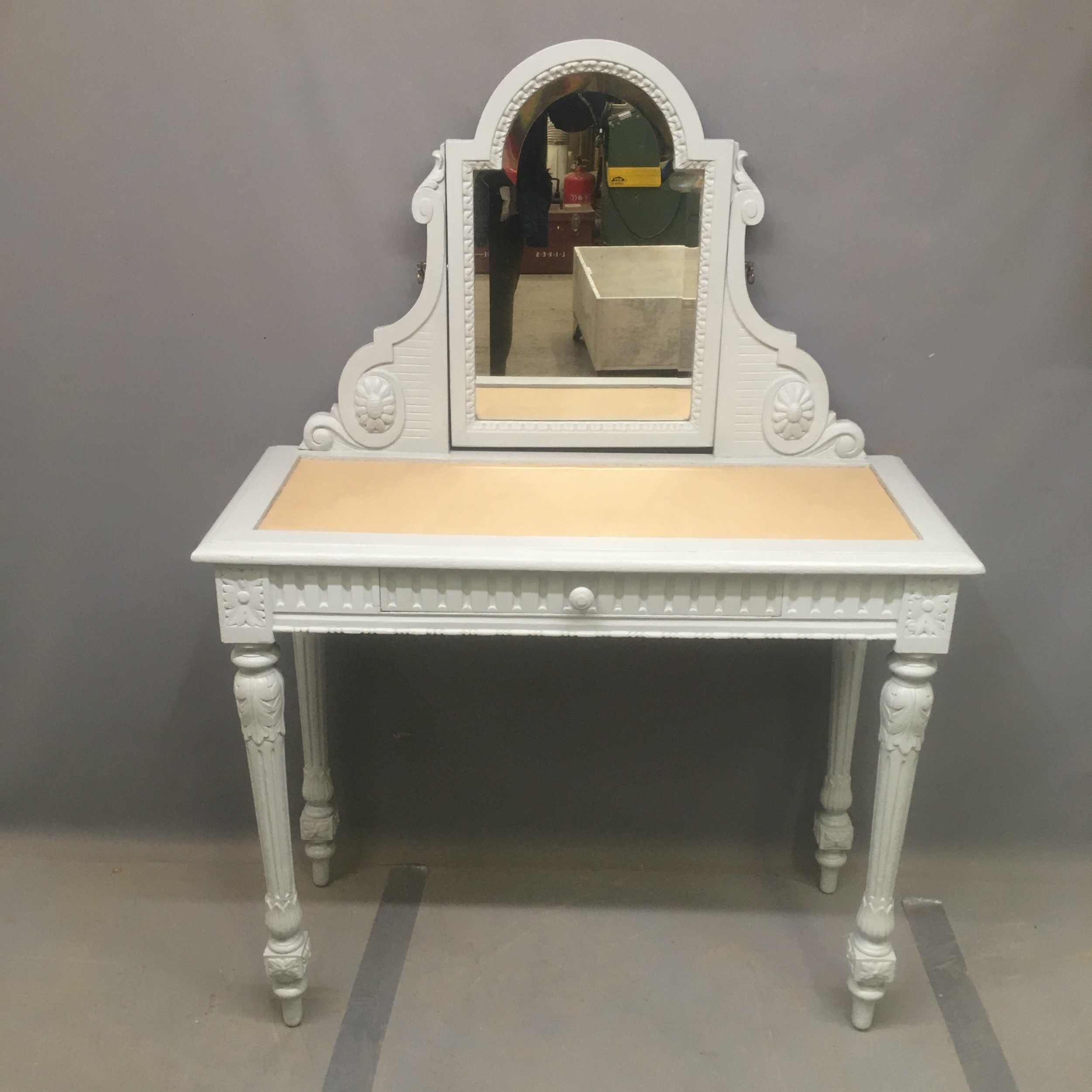 early 20th century painted dressing table