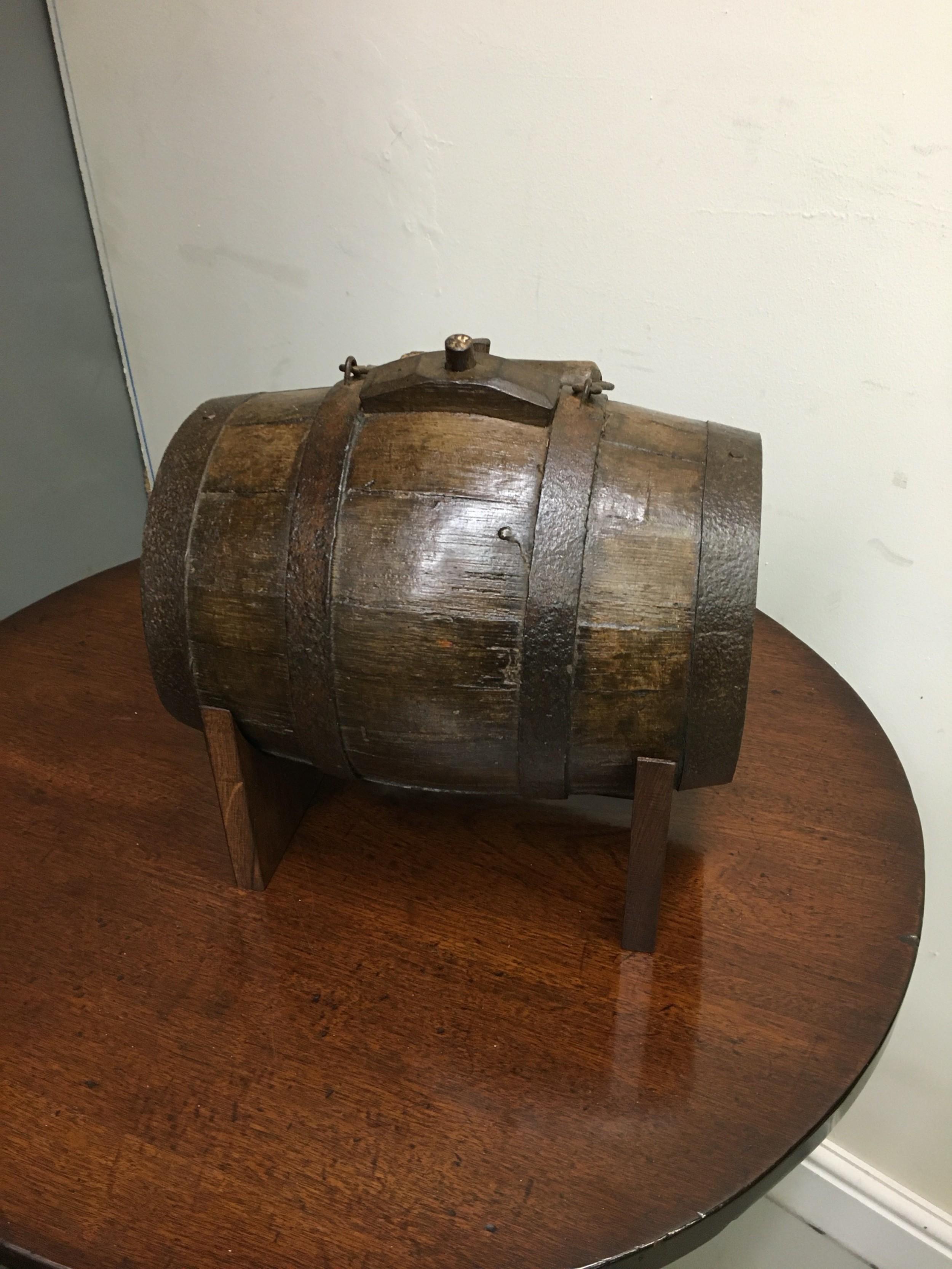 oak harvest barrel 19th century