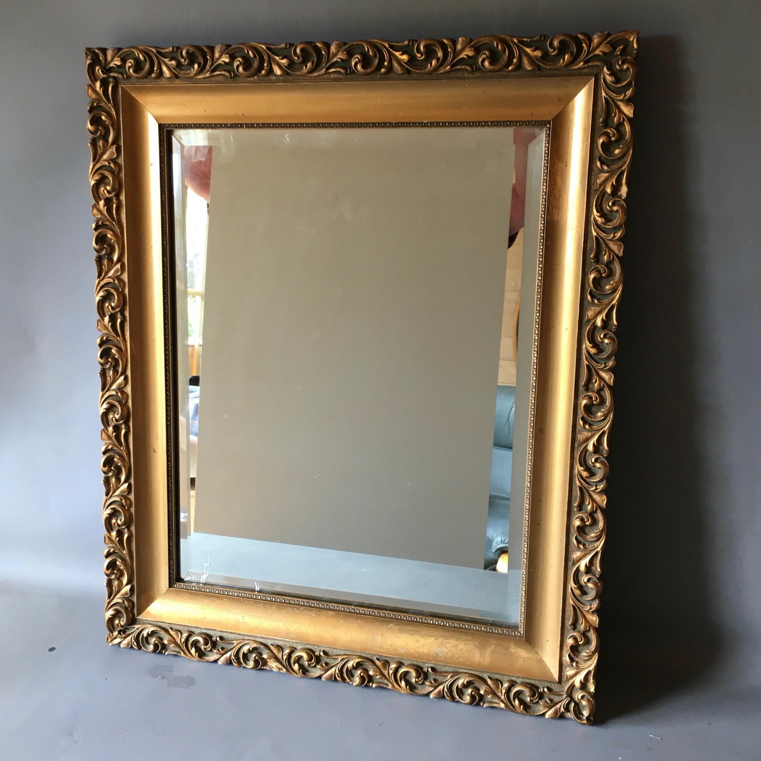 small gilt mirror