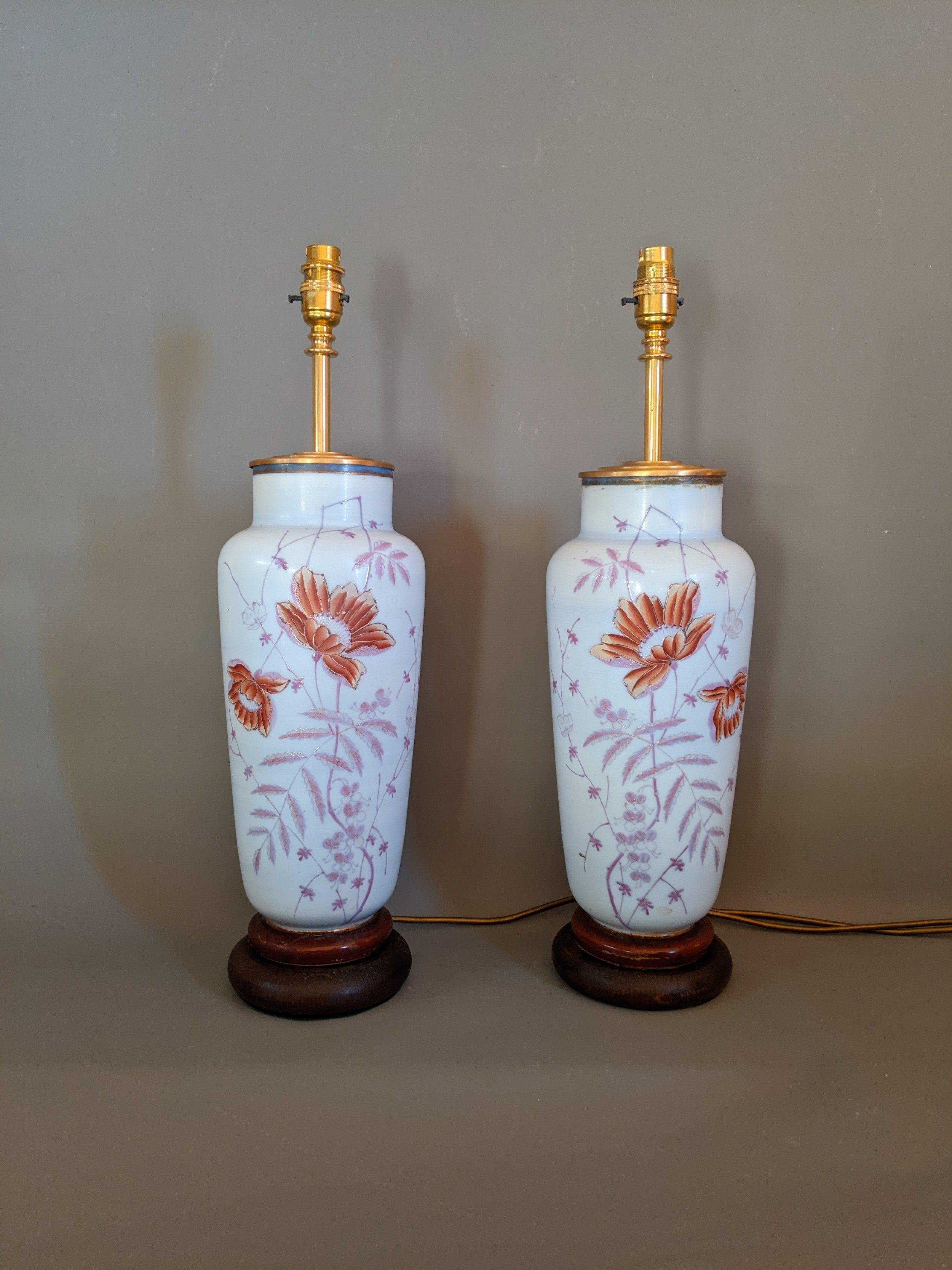 tall decorative antique glass lamps