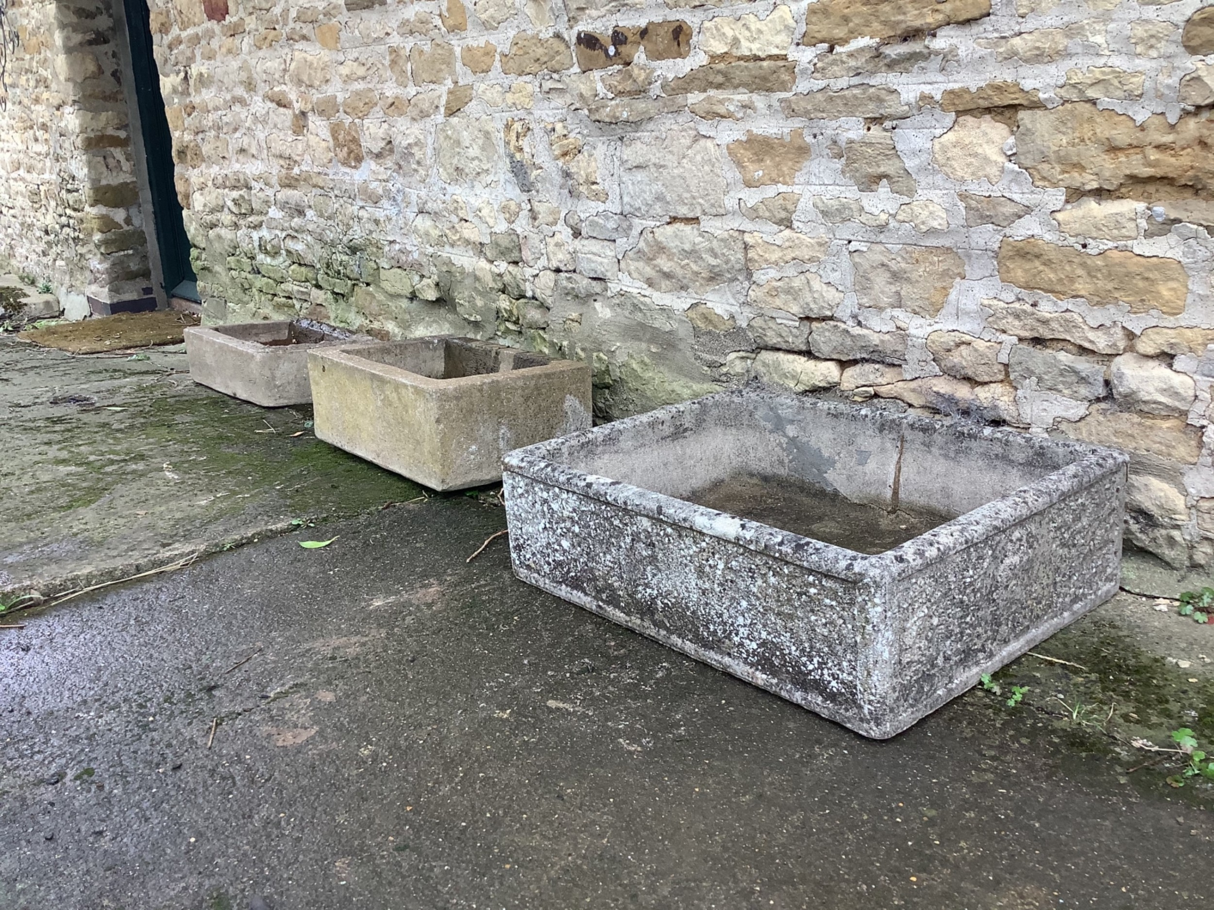 selection of 3 stone sinks