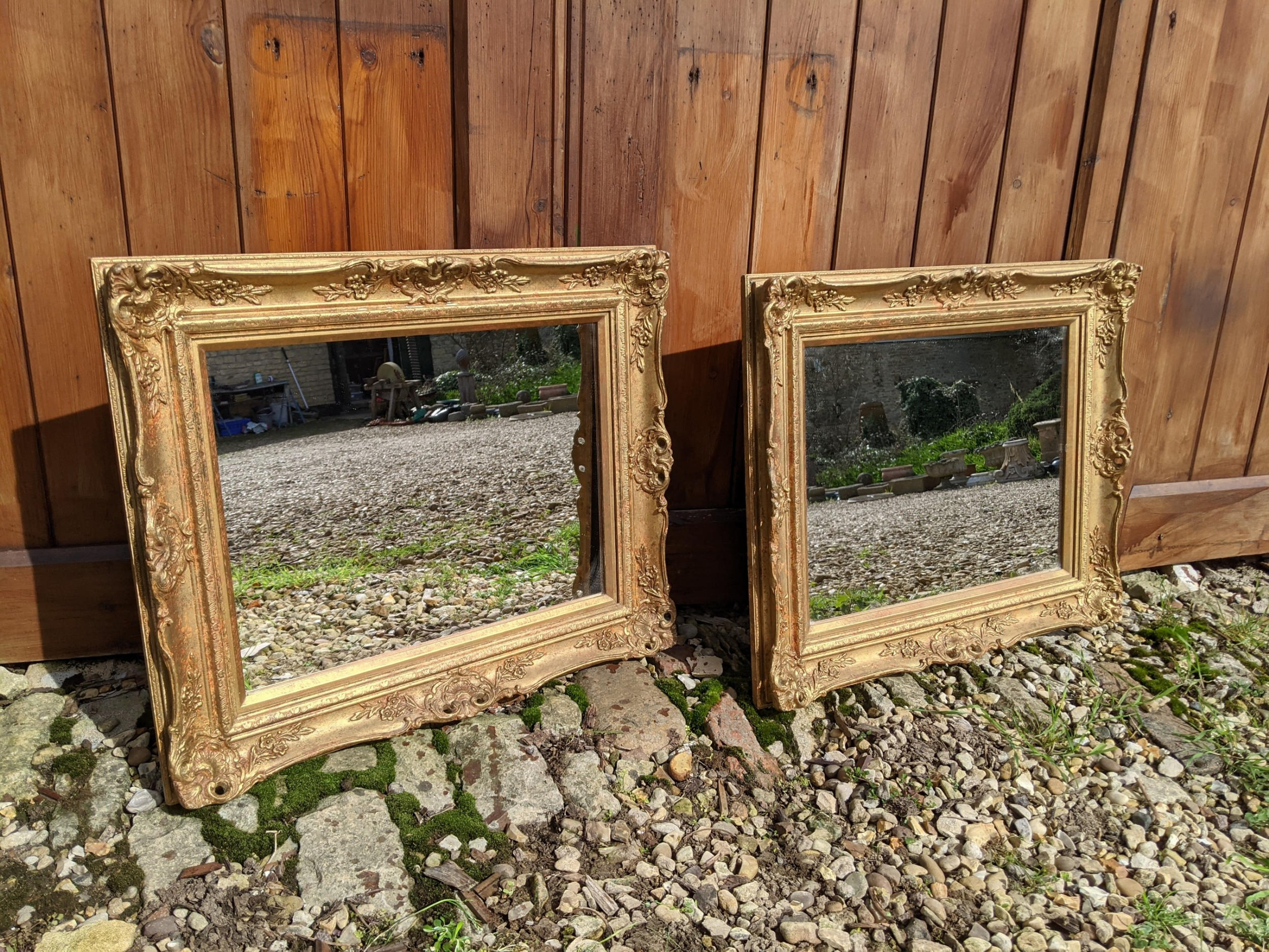 pair of early 20th century gilt mirrors