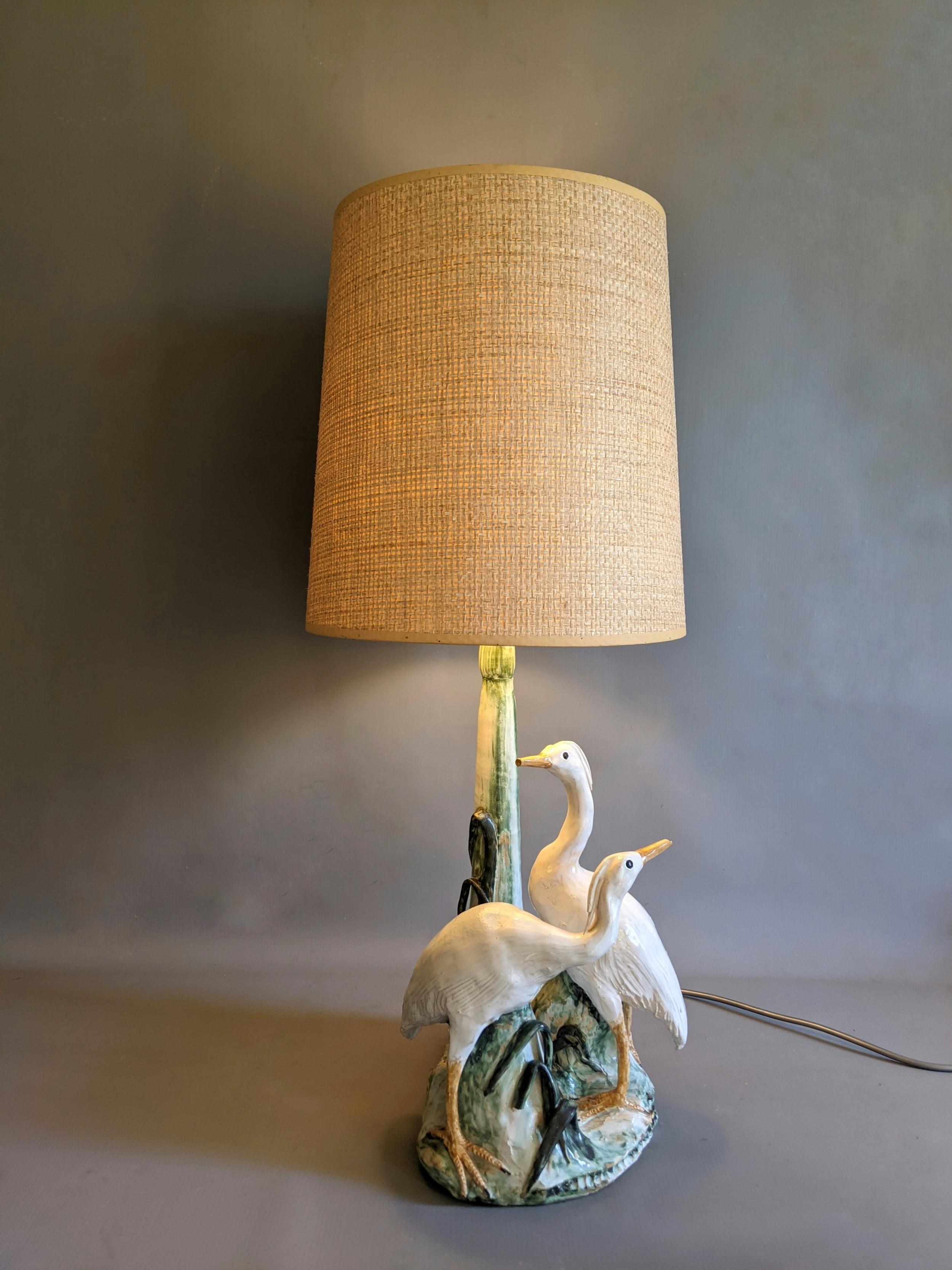 single china table lamp