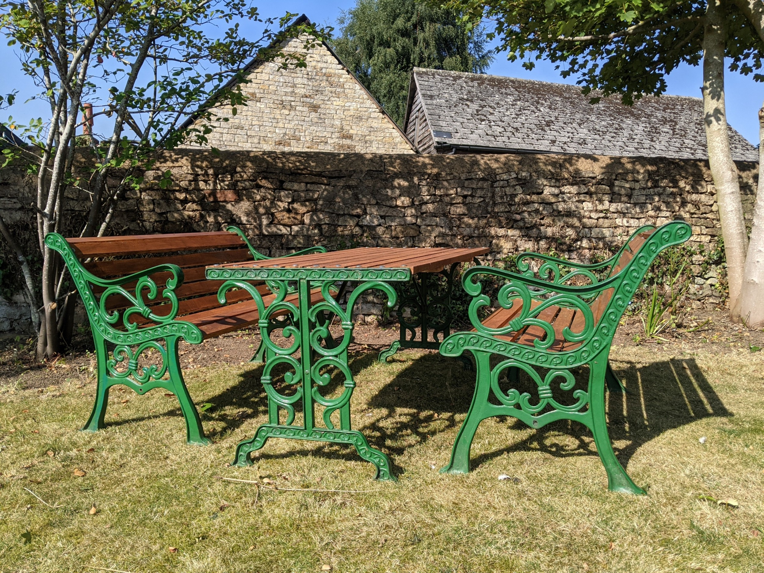 late victorian cast iron garden table benches
